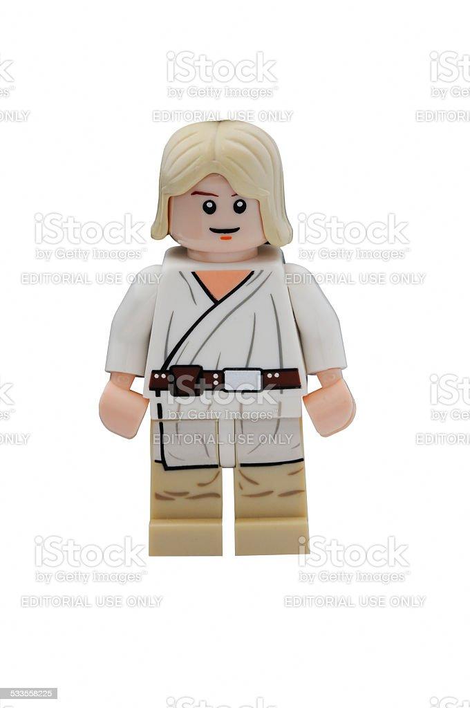 Luke Skywalker Minifigure stock photo