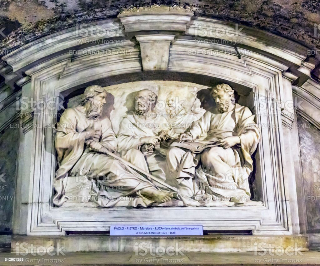 Luke's House Monument Peter Paul Luke Santa Maria Via Lata Church Rome Italy stock photo