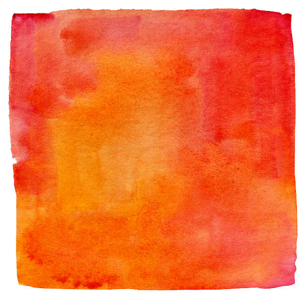 lukianchik peach watercolour square - square shape stock pictures, royalty-free photos & images