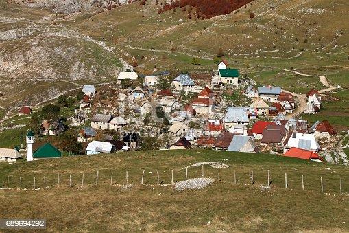 Lukomir village on Bjelasnica moutain near Sarajevo , Bosnia and Herzegovina