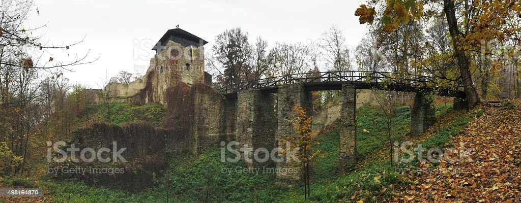 Lukov ruins in Hostynske vrchy hills near town Zlin stock photo