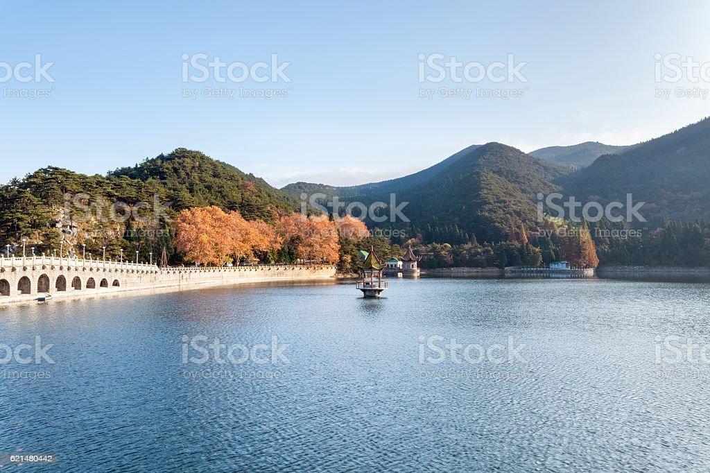 lulin lake in autumn stock photo
