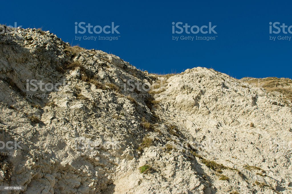 Lulworth Cove cliff stock photo