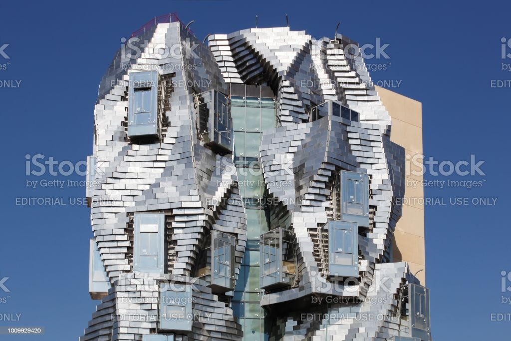Luma tower from Franck Gehry in Arles, France stock photo
