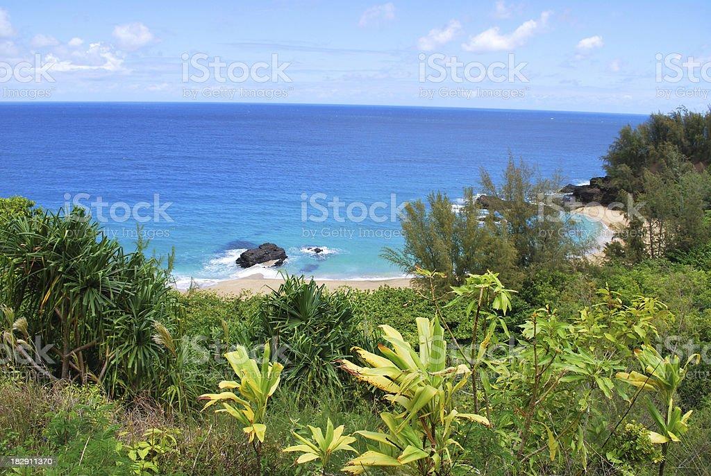 Lumahai Beach, Kauai stock photo