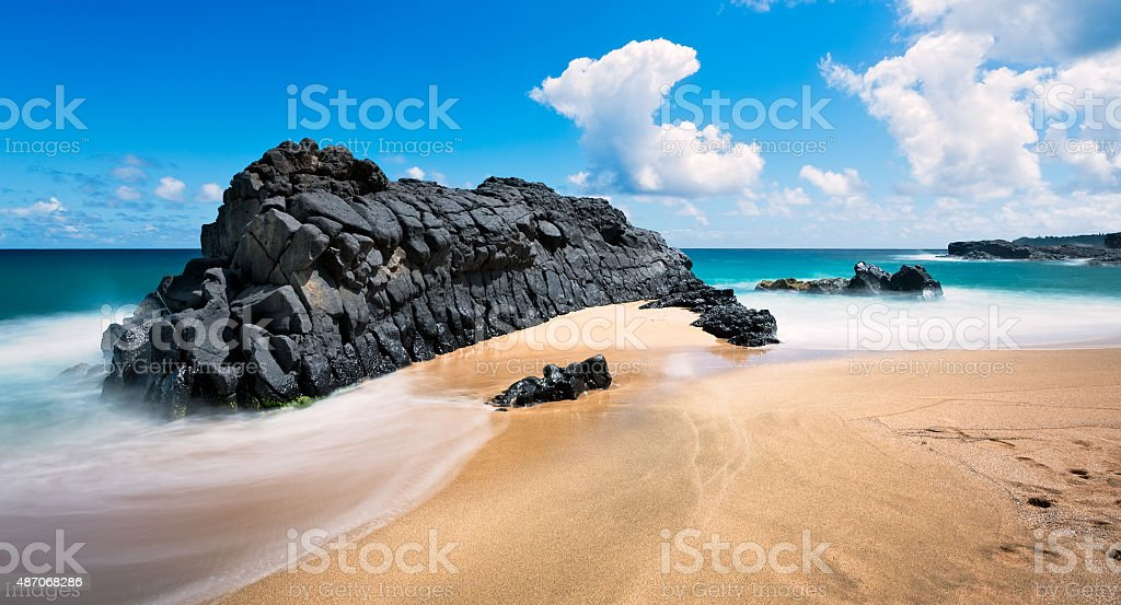 Lumahai Beach stock photo