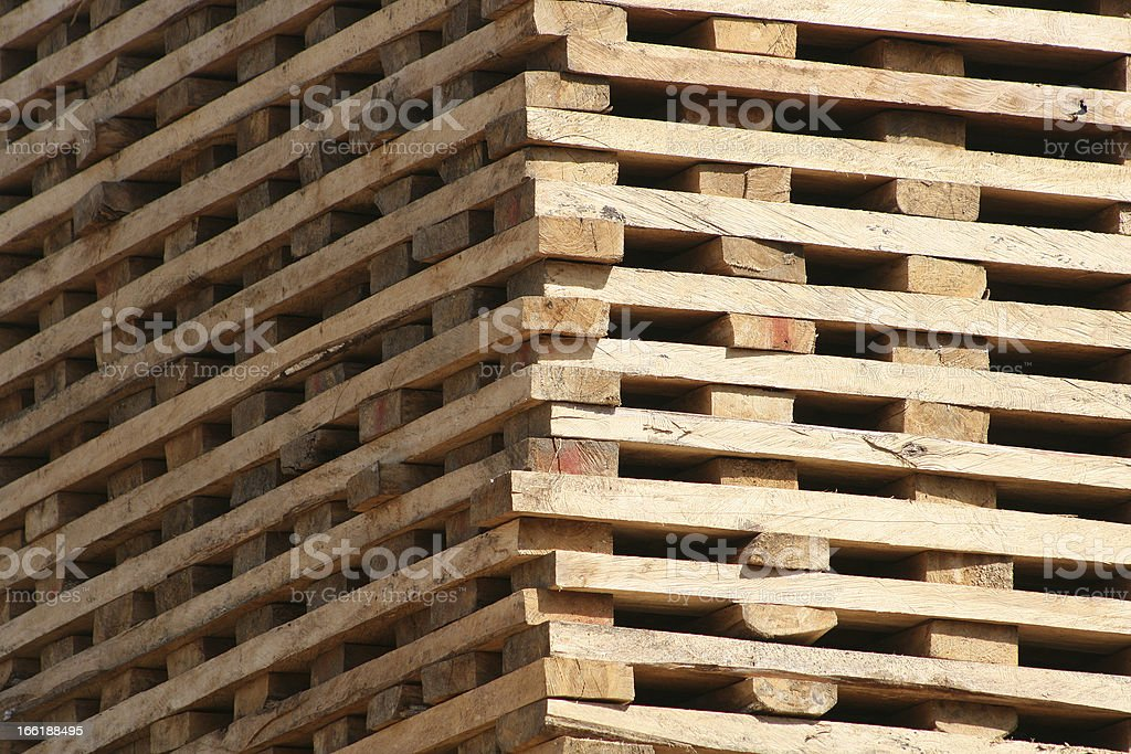 Lumber Drying in the Sun royalty-free stock photo
