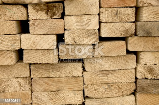 Lumber at new house construction