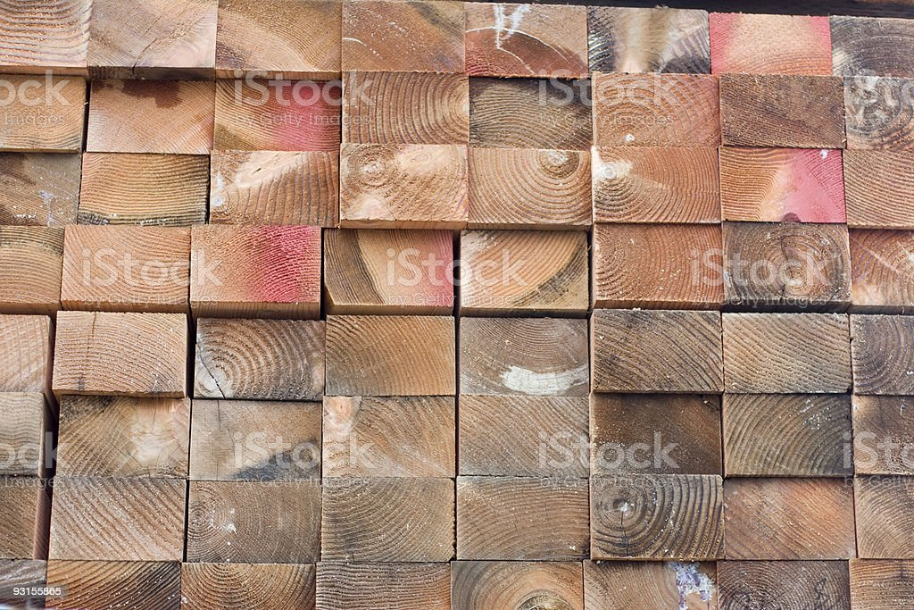 Lumber in construction yard royalty-free stock photo