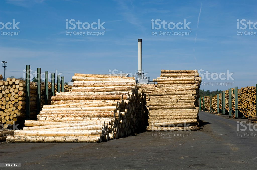 Lumber industry - saw mill stock photo
