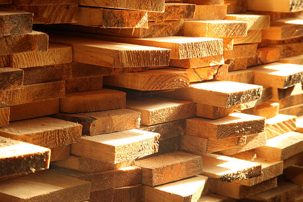 Lumber stock photo