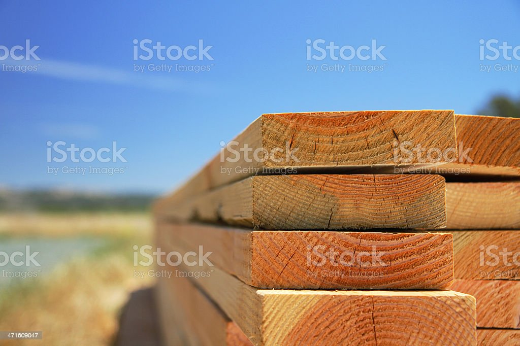 Lumber & Sky stock photo