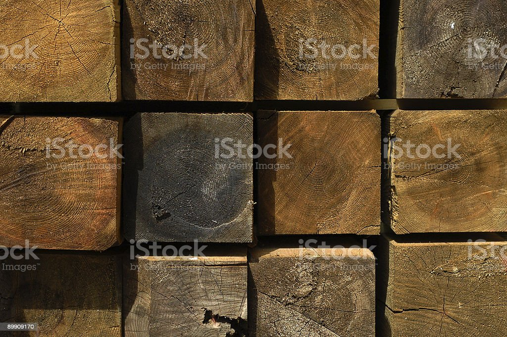 Lumber / Timber Section, Abstract Construction Joinery (Oak) royalty-free stock photo