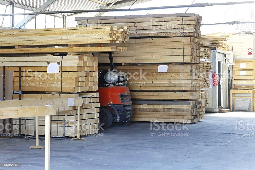 Lumber warehouse royalty-free stock photo