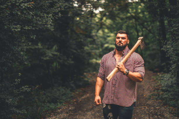 leñador - macho fotografías e imágenes de stock