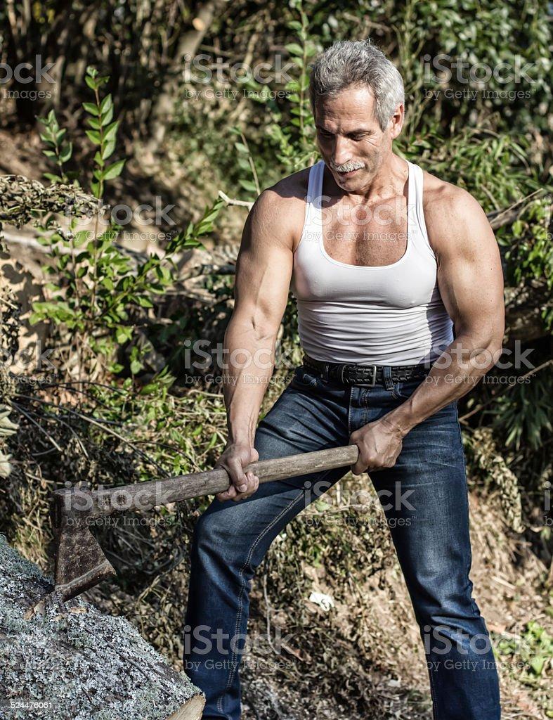 Lumberjack stock photo
