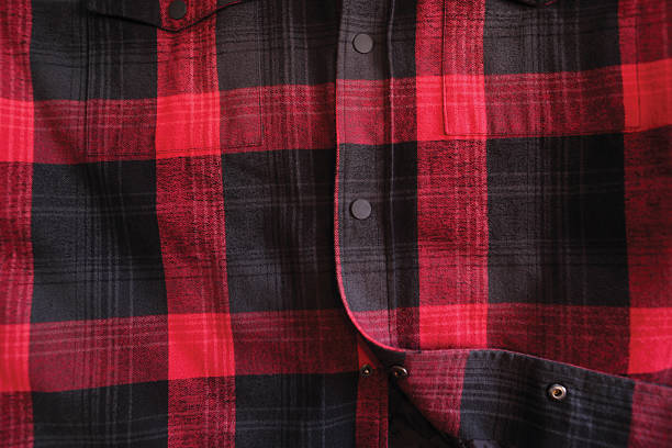 lumberjack shirt red plaid sets in this season for winter at its finest plaid shirt stock pictures, royalty-free photos & images