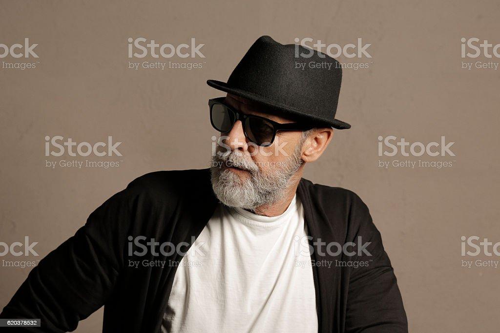 Lumbersexual  Bearded  Senior men hipster zbiór zdjęć royalty-free