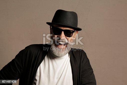 Portrait  lumbersexual,  bearded, senior men hipster. Real people, famous people.