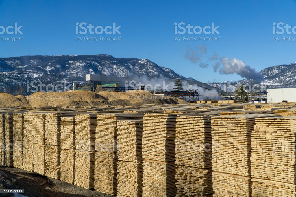 Lumberyard and Mill stock photo