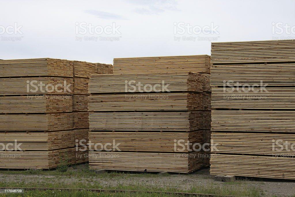 Lumberyard royalty-free stock photo