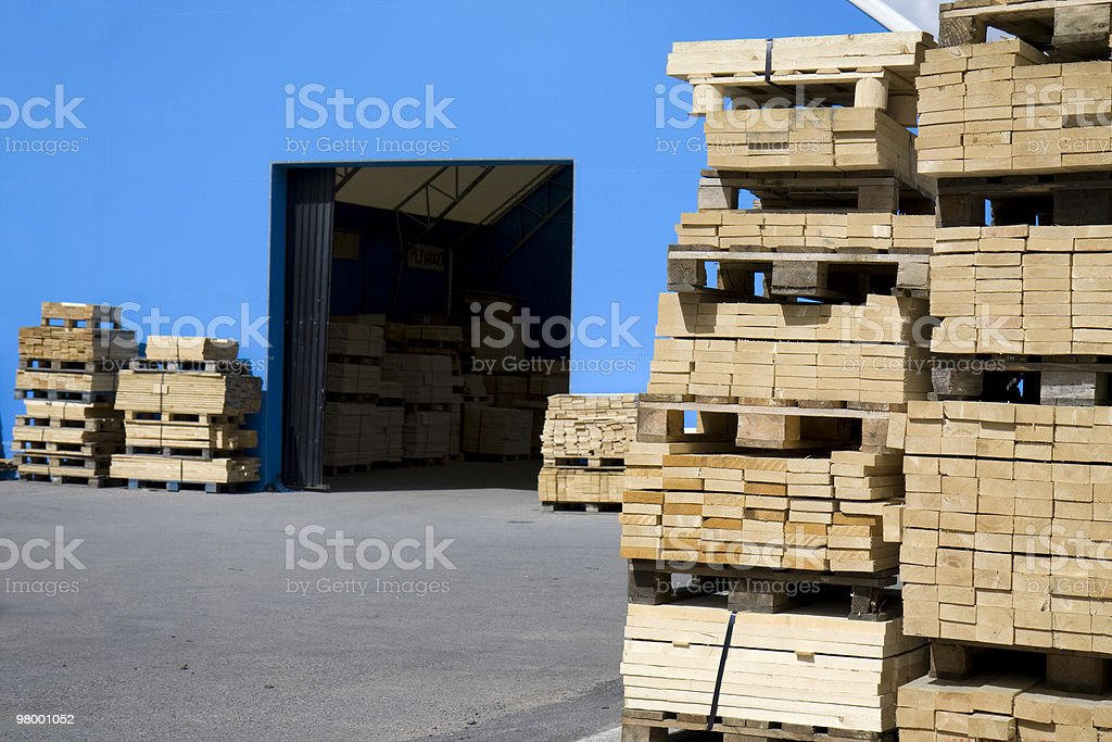 Lumberyard royalty free stockfoto