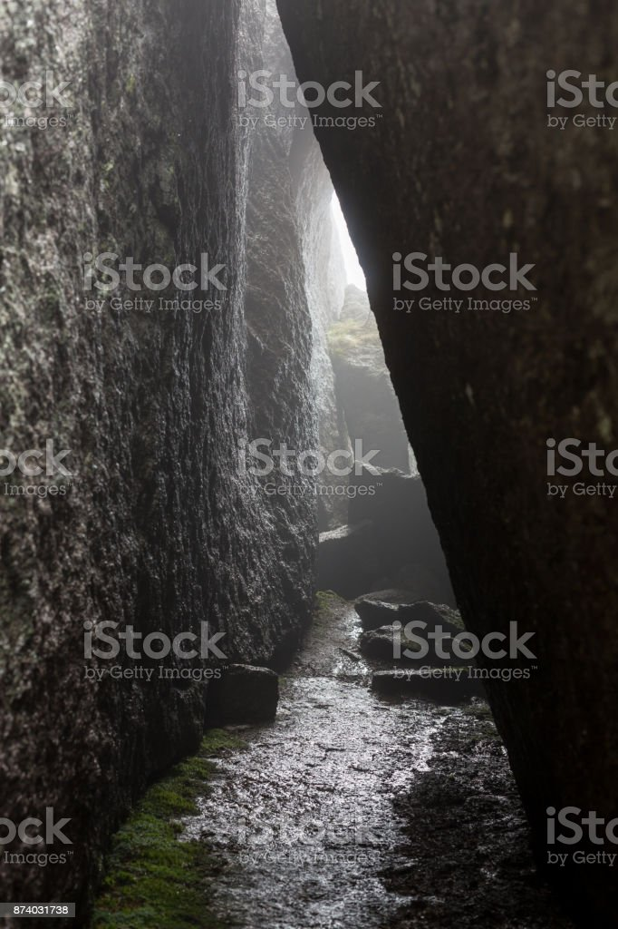 Lumbier gorge was carved by the Irati river during millenia stock photo