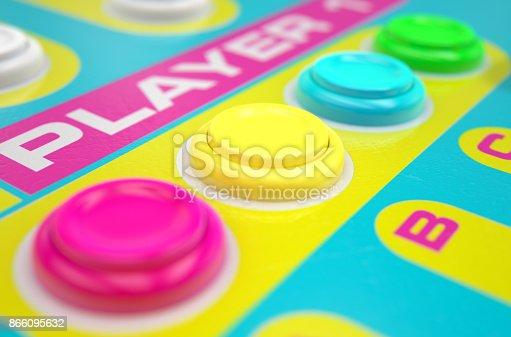 istock Luminous Arcade Control Panel 866095632