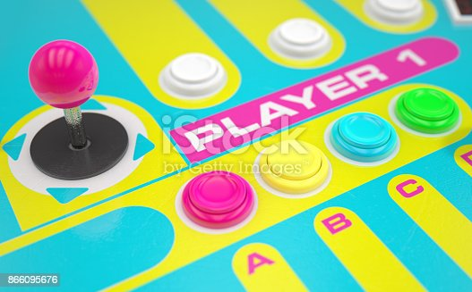 istock Luminous Arcade Control Panel 866095676