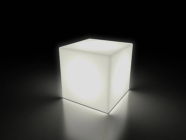 luminous cube - cube shape stock pictures, royalty-free photos & images