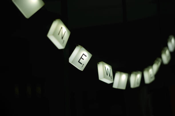 lettres lumineuses - word game stock pictures, royalty-free photos & images