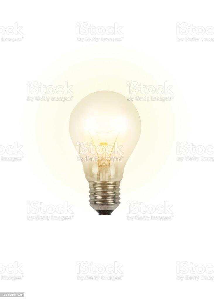 luminous light bulb - new idea стоковое фото