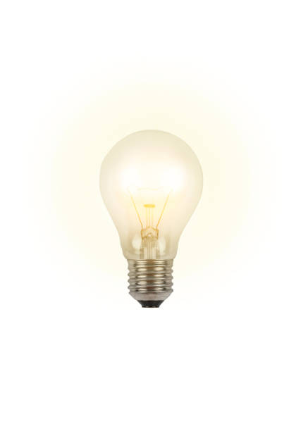 luminous light bulb - new idea - light bulb stock pictures, royalty-free photos & images