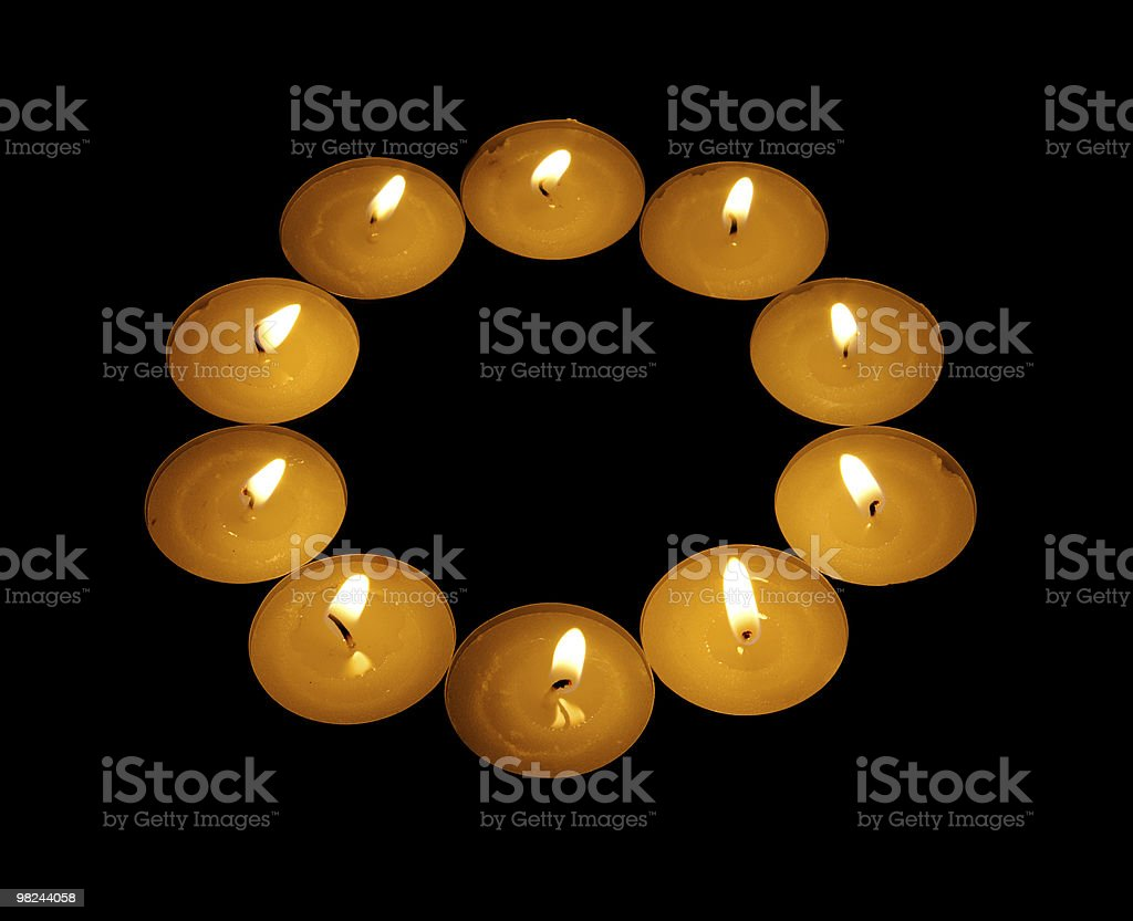 luminous ring from candle royalty-free stock photo