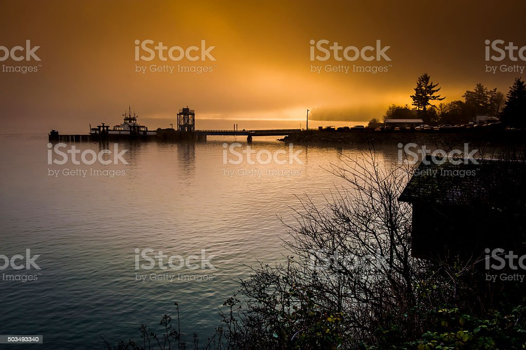 Lummi Island Ferry stock photo