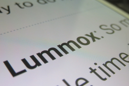 Lummox Dictionary Definition Stock Photo - Download Image