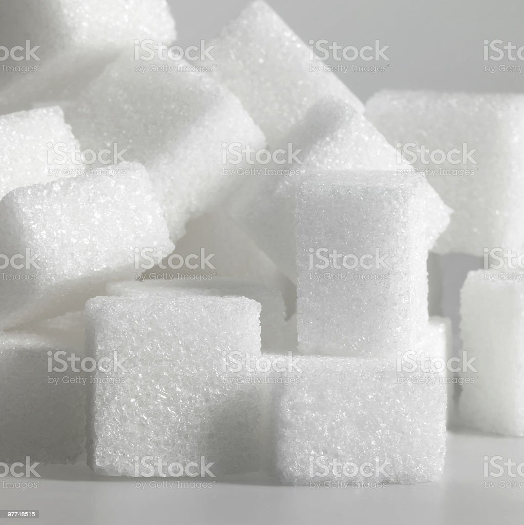 lump sugar closeup royalty-free stock photo