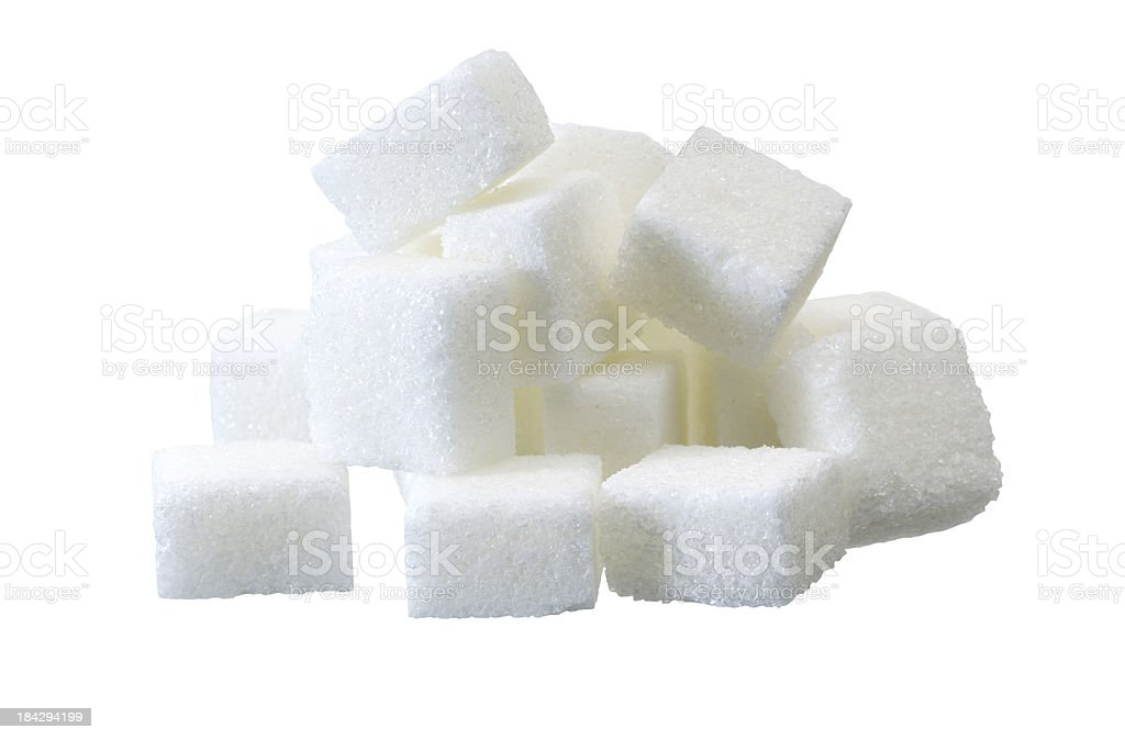 lump sugar pile stock photo