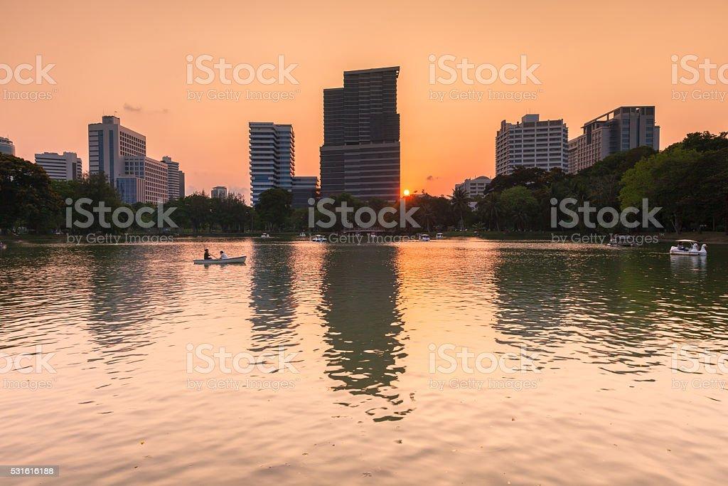 Lumpini Park, Bangkok, Thailand royalty-free stock photo