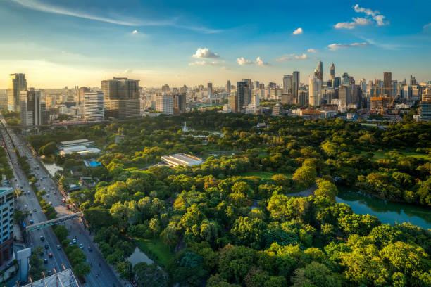 lumpini park in center of bangkok city - bangkok zdjęcia i obrazy z banku zdjęć