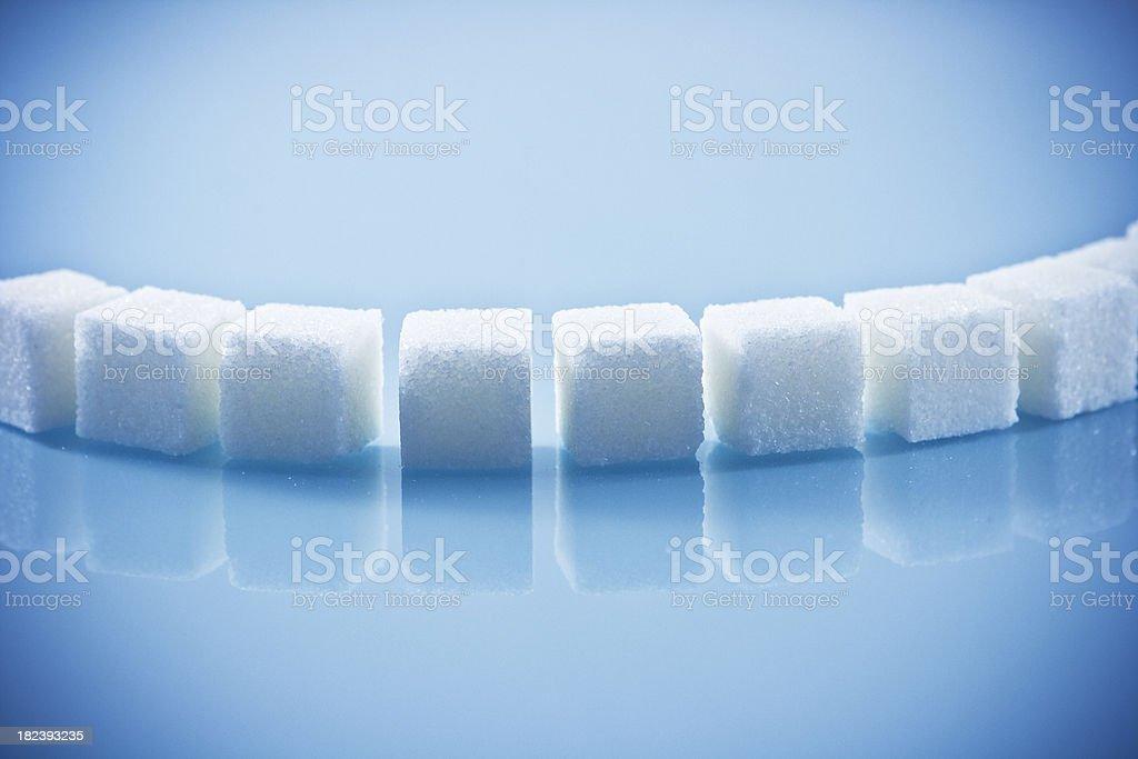 Lumps of sugar royalty-free stock photo