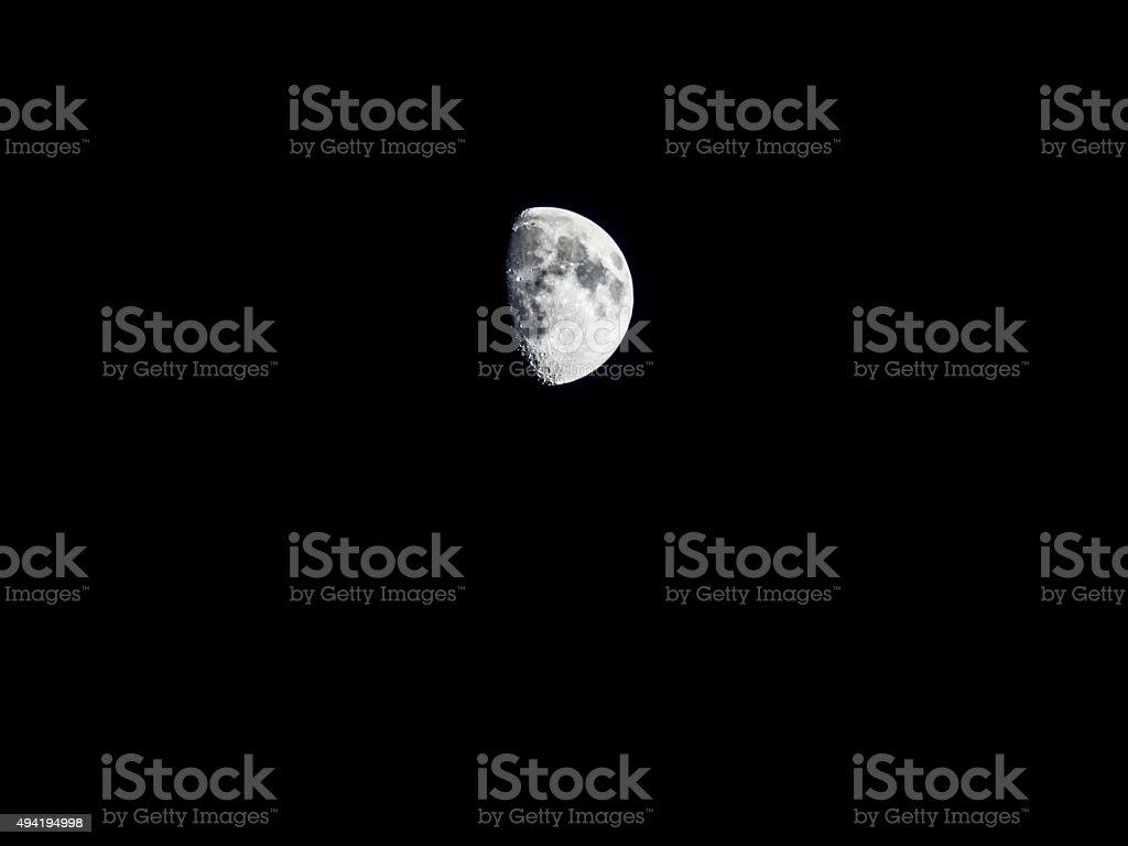 Luna Cuarto Creciente Stock Photo & More Pictures of 2015 | iStock