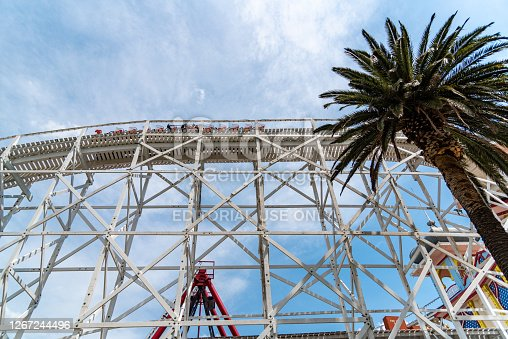 Melbourne, Victoria / Australia - 11/01/2019 Luna Park Melbourne is a historic amusement park located on the foreshore of Port Phillip Bay in St Kilda. It opened on 13 December 1912.