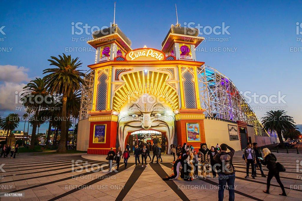 Luna Park Melbourne stock photo