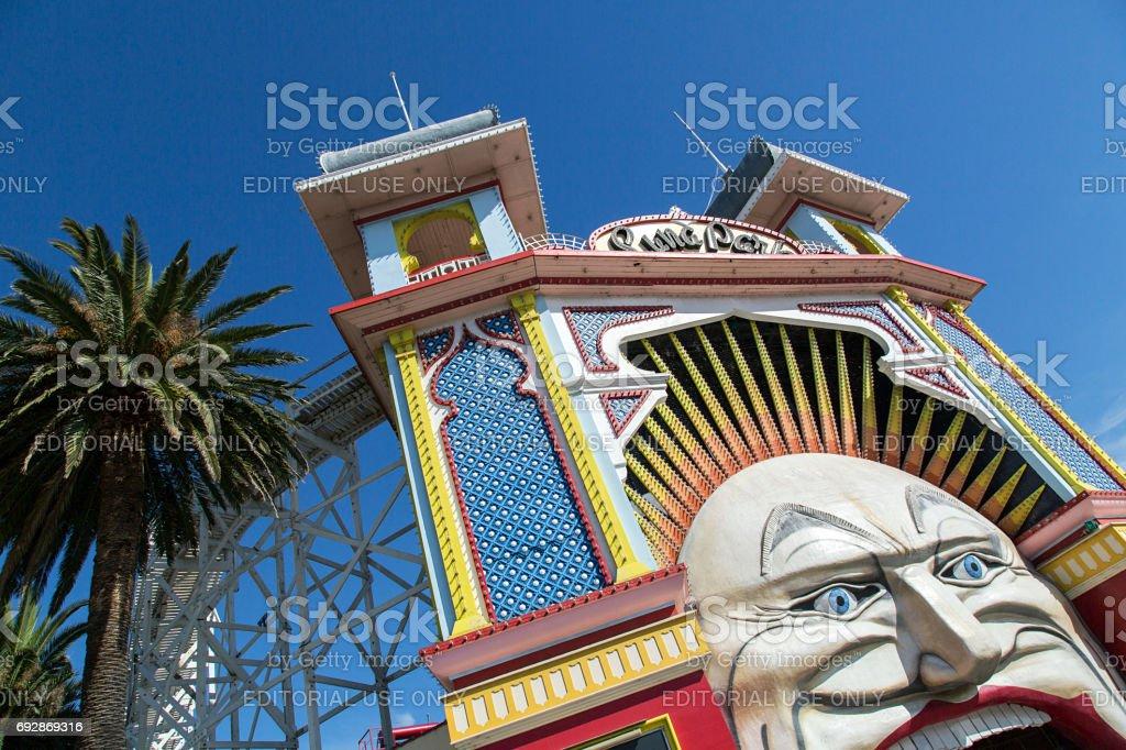 Luna Park - Melbourne stock photo