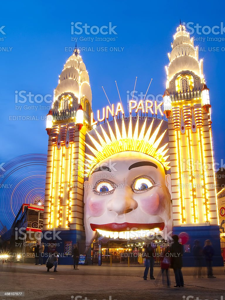 Luna Park - Night royalty-free stock photo