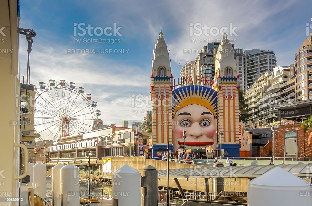 Luna Park Sydney Australia stock photo