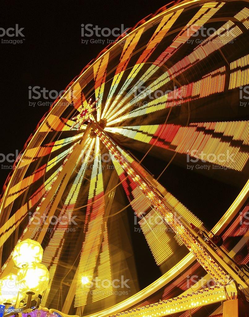 lunapark at night #2 stock photo