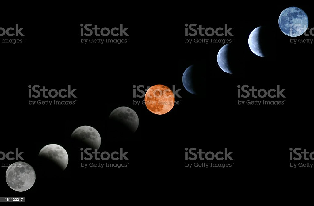Lunar Eclipse 10/27/2004 royalty-free stock photo