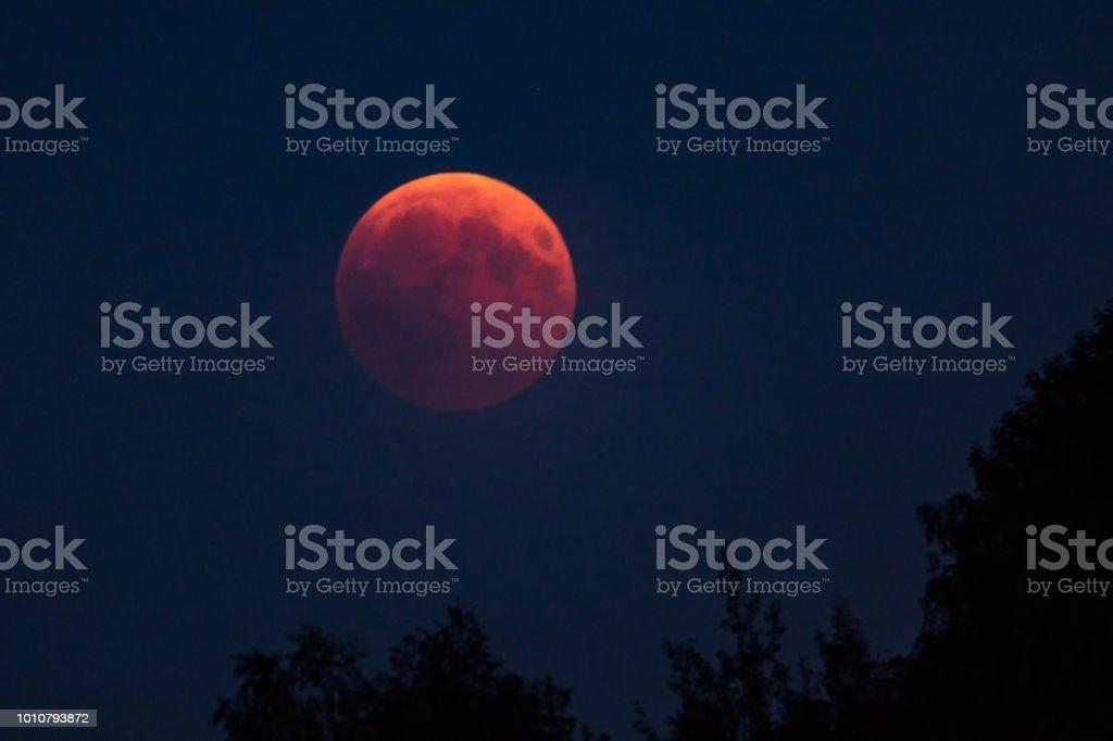 Mondfinsternis - Blut Mond - Mond - Eclipse - lunar – Foto